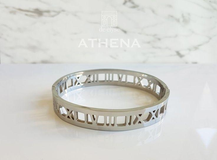 Athena Silver Bangle