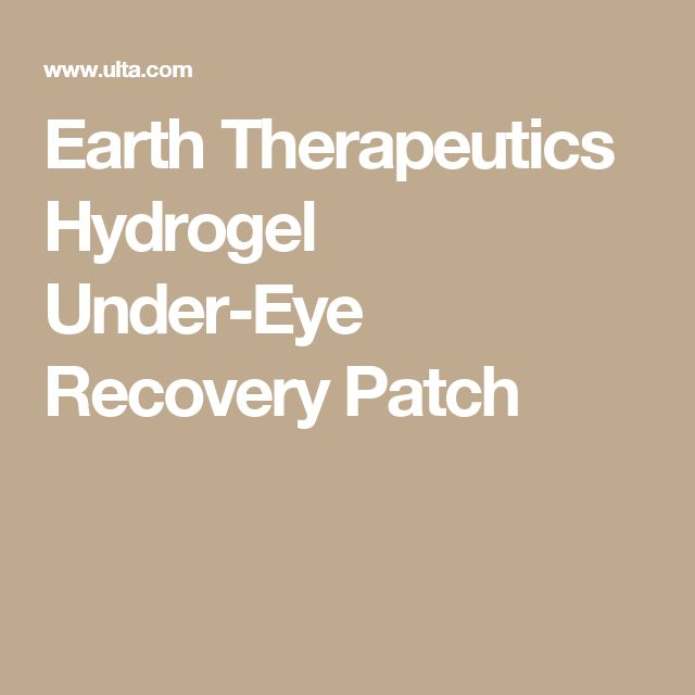 Earth Therapeutics Hydrogel Under-Eye Recovery Patch