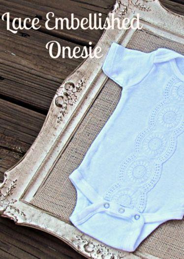 DIY~ Easy & elegant Onesie~ what a fun baby shower gift idea!