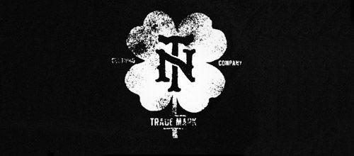 grunge clover logo designs
