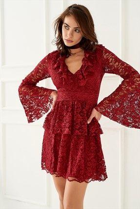 Trendyolmİlla Marka  Kadın Trendyolmilla Bordo Fırfırlı Dantel Elbise || Bordo Fırfırlı Dantel Elbise TRENDYOLMİLLA Kadın                        http://www.1001stil.com/urun/3564080/trendyolmilla-bordo-firfirli-dantel-elbise.html?utm_campaign=Trendyol&utm_source=pinterest