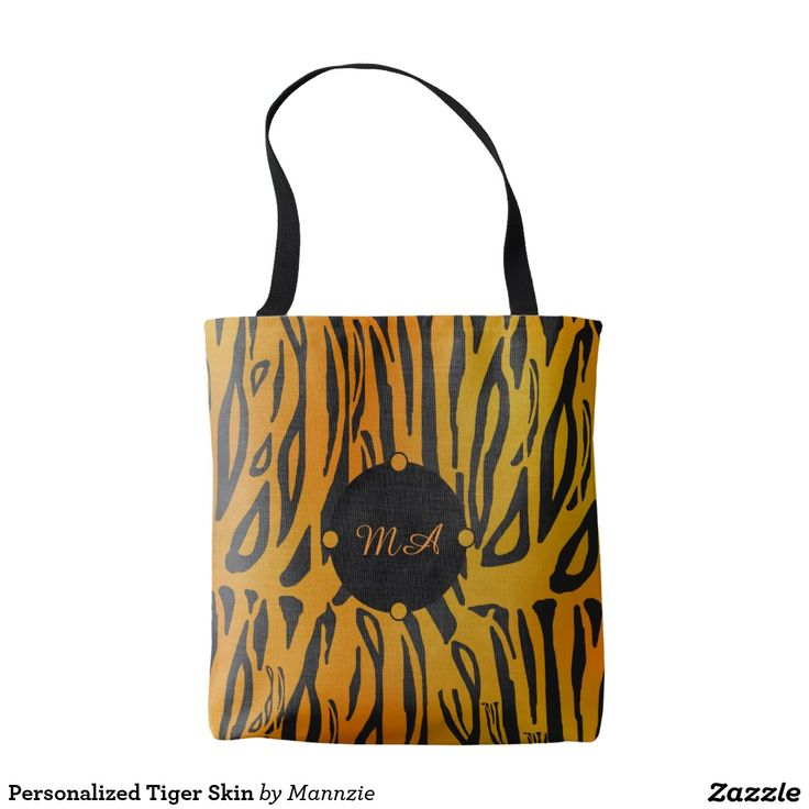 Personalized Tiger Skin Tote Bag
