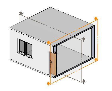 Řez 3D modelem místnosti