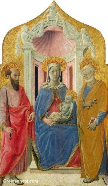 Domenico di Bartolo - Madonna col Bambino in trono tra i santi Pietro e Paolo - 1430 - National Gallery of Art di Washington