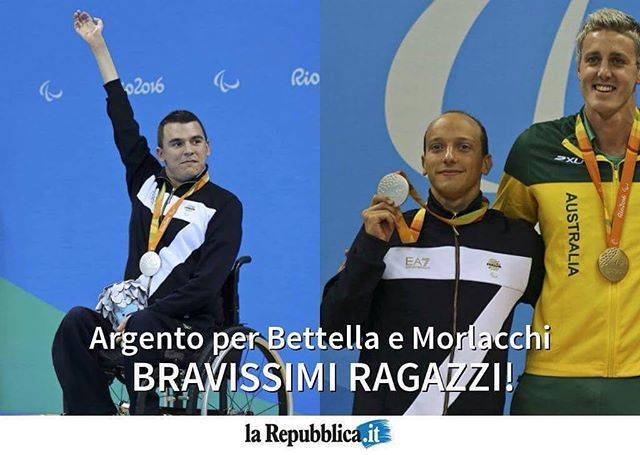 #Paralimpiadi, dal nuoto le prime medaglie azzurre: #Bettella e #Morlacchi d'argento #rio2016 #ITA