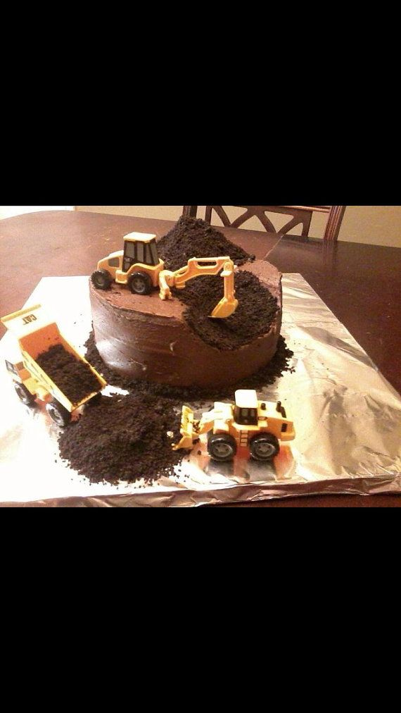 Construction cake by BakedPerfections on Etsy