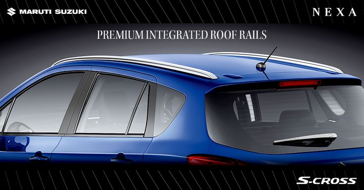 Premium integrated roof rails that combine sharp looks with aerodynamic smoothness. ‪#‎SCross‬