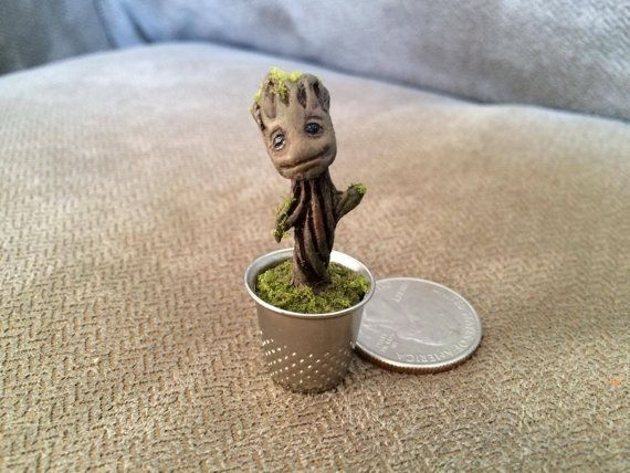 Baby Groot Thimble by Propcustomz on Etsy