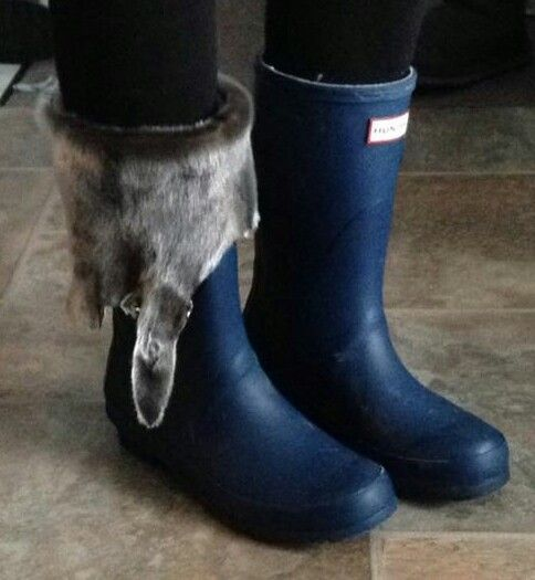 Sealskin boot toppers ♡