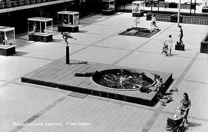 Oude liesveld met fontein