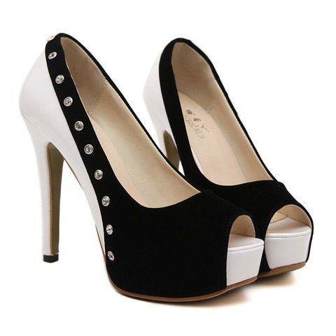 Stylish peep toed shoes