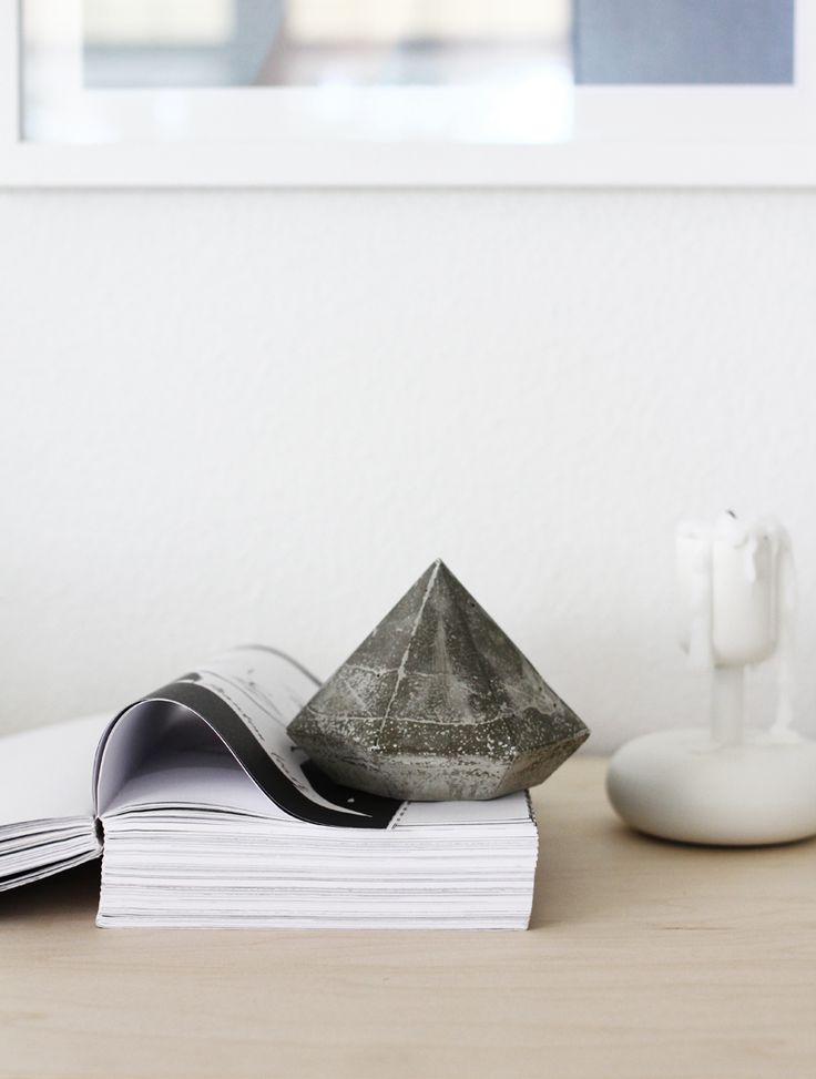 DIY Concrete Diamond: