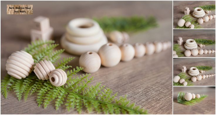 Gorgeous wood beads made in North America