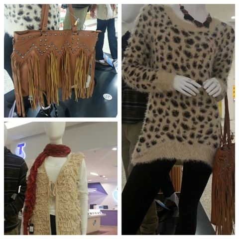 Leopard print is in this season, so why not add a touch of fringing to your Accessories for this great look!