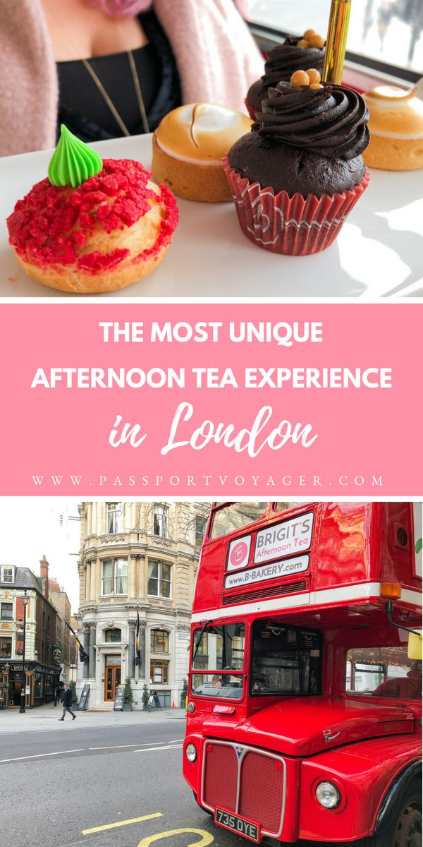 Looking for a truly unique experience while in London? How about afternoon tea while riding on a vintage double-decker bus? Read all about my fun experience on B-Bakery's bus tour! #london #afternoontea #england #bustour #europe #travel