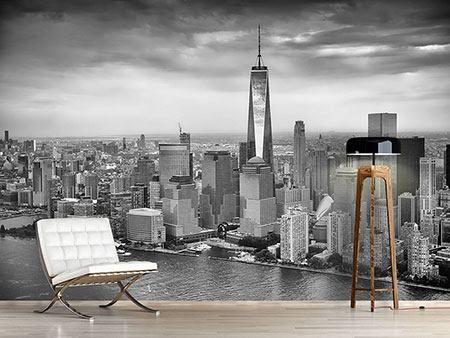 Fotomural Horizonte en blanco y negro de Nueva York