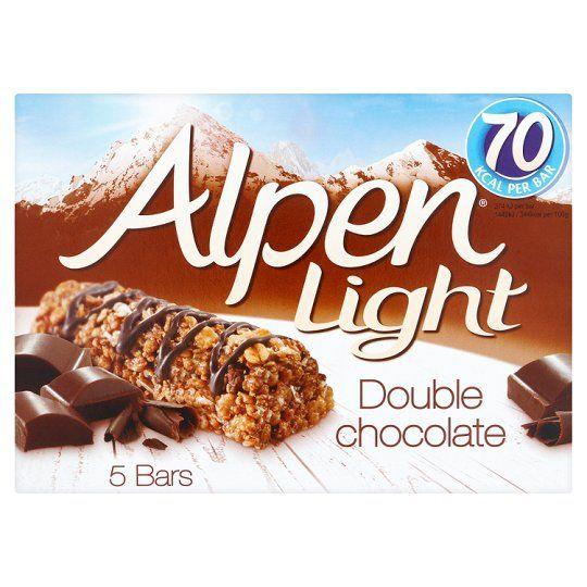 Alpen Light Bars Double Chocolate 5 Pack 95G
