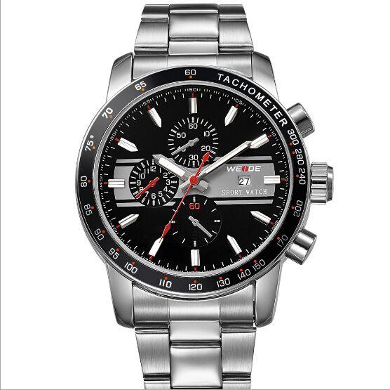 Free Shipping New Waterproof sports watch, Stainless steel, Original Japan Miyota 2115 Quartz