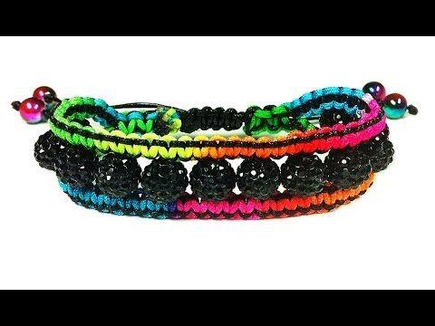 "DIY: macrame bracelet shamballa ""Сharm"" / Браслет своими руками шамбала ..."