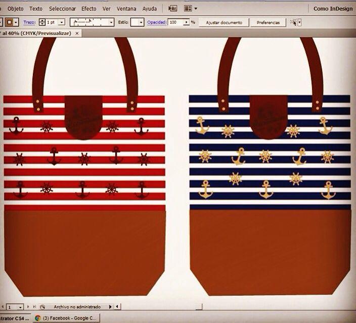 Nuevas ideas , Tote Bags estilo Navy para este verano!!!! Y con bordados exclusivos de Citronnier