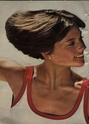 Dorothy Hamill's Wedge Haircut From the 1970s  - 1970s White Rain Hair Product Advertisement