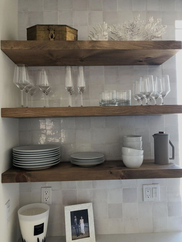 Floating Shelves Without Nails In 2020 Wood Floating Shelves Floating Shelves Kitchen Floating Shelves