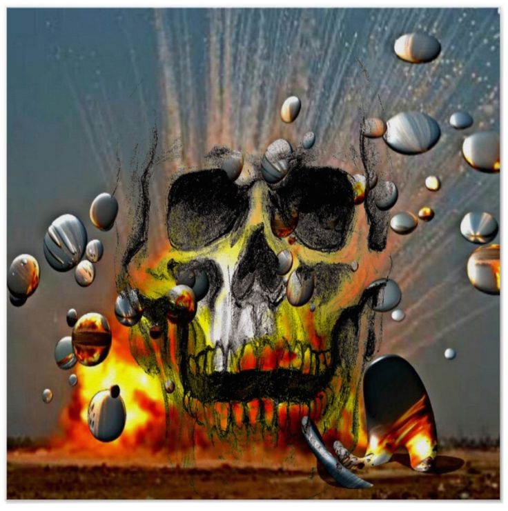 Heaps of fun putting this mug design together. What are those silver discs? How big is that skull? What is going on? This dynamic poster is sure to start some lively conversations! A smart addition to your new home decor?
