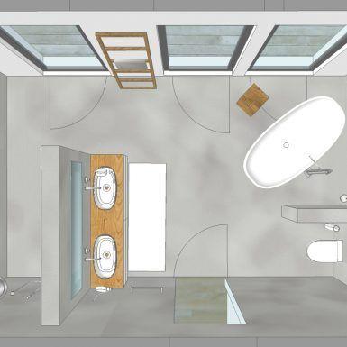 visualisierung, bad, wanne, waschtisch, private-spa, freistehende wanne, doppelw