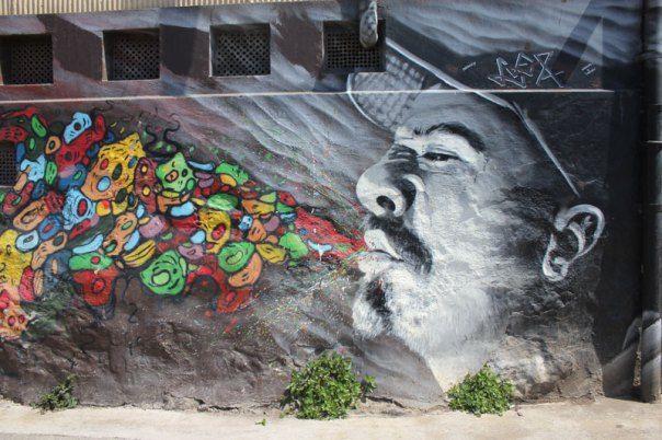 #Impulseearth #Valparaiso #Chile #Graffiti #Street Art #Face #Painting #Creativity #Black and White #B&W #Blow #HipHop #Art