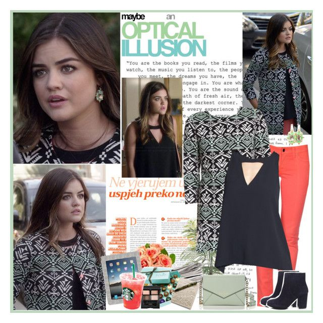 Aria Montgomery by mery90 on Polyvore featuring polyvore, fashion, style, S.O.S By Orza Studio, Ash, Kate Spade, SUQQU, Leith, OPTIONS and Hostess