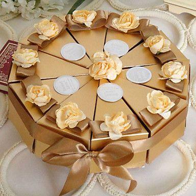 золотой+торт+пользу+коробки+с+цветами+(набор+из+10)+–+RUB+p.+358,73
