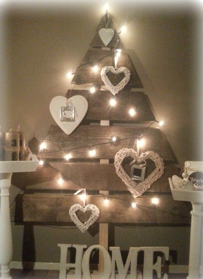 Home made wooden christmas tree, love style