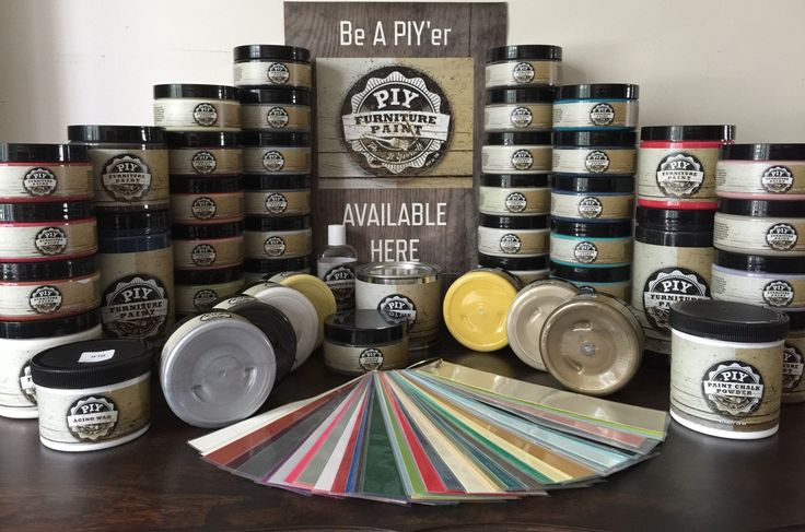 """PIY Furniture Paint and Accessories - 52 incredible colours along with Metallics, Waxes, Accessoriesand Specialty Products. Order online or purchase locally in Ottawa, Ontario  Order from anywhere in Canada or the US and get delivery to your door - save 10% off your order using my affiliate link and using coupon code """"BAREWARDS"""" at checkout!  http://piypaint.com/ref/33/?campaign=Pinterest"""