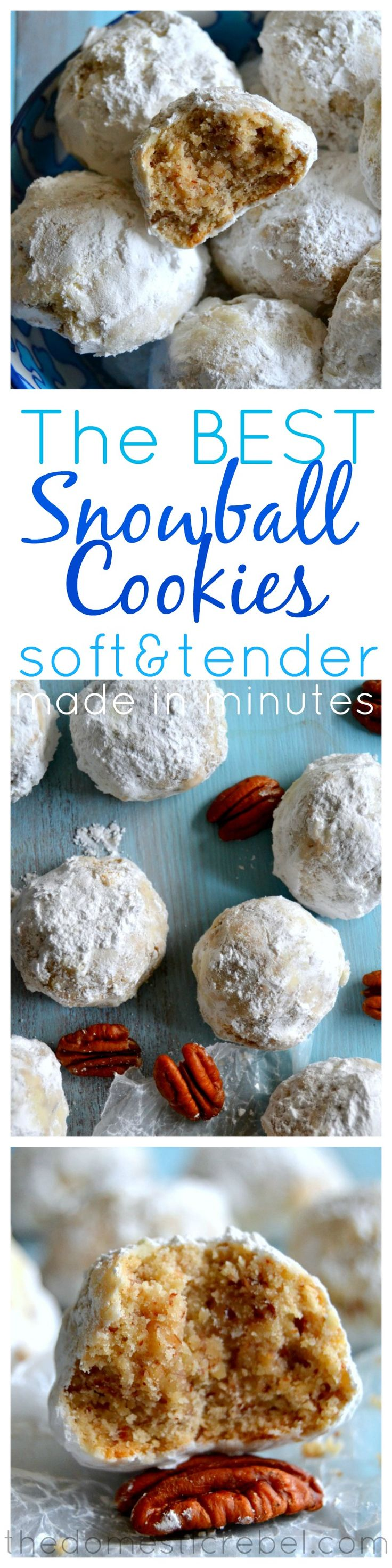 The BEST Snowball Cookies {Or Russian Tea Cakes. Or Mexican Wedding Cookies} | The Domestic Rebel