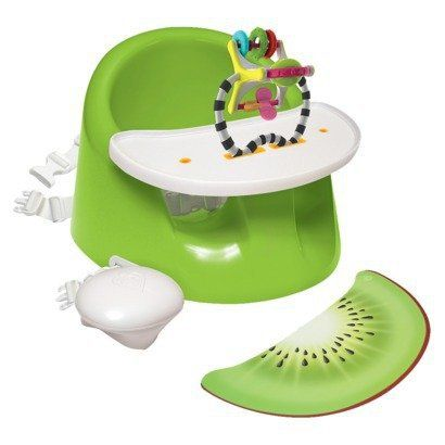 Prince Lionheart bebePOD Flex Plus Booster and Floor Seat - Green Kiwi. I can't get enough of this chair. Simple. Versatile. Super easy to clean. Fun for baby and easy to get in and out of. Love it!