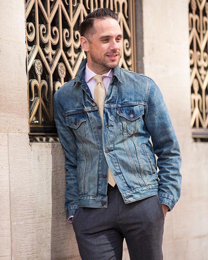 Veste en jean masculine pour femme