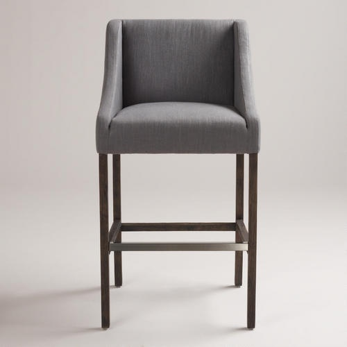 Would love these upholstered stools in counter height for our new kitchen... Maybe I can make them?