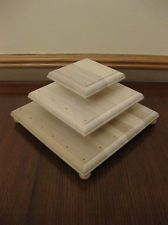 Three Tier, All Wood, Square Cake Pop Stand, Holds 40 Cake Pops!