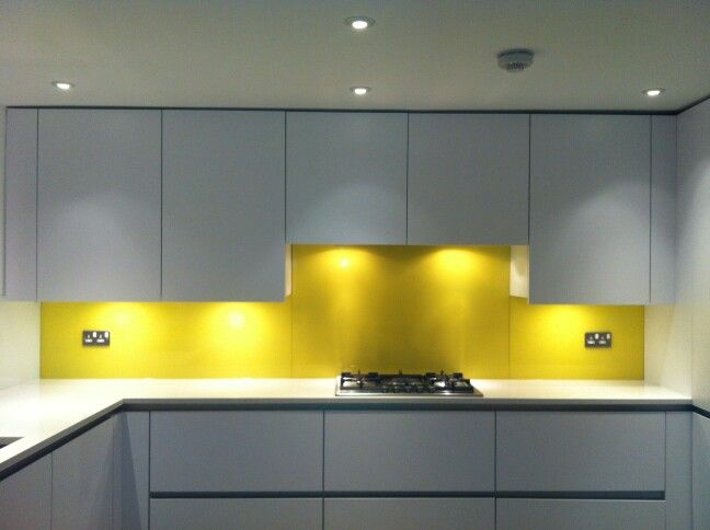 Yellow Splashback Yellow Kitchen Kitchen Remodel Small