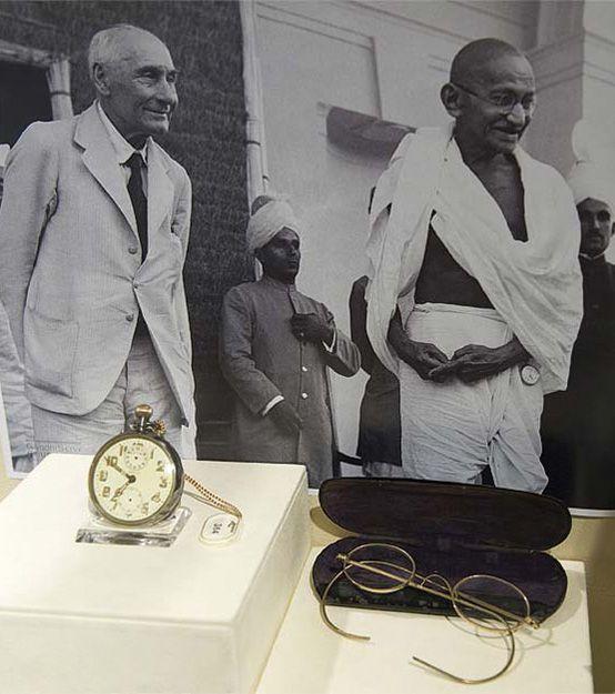 Gandhi's pocket watch with alarm