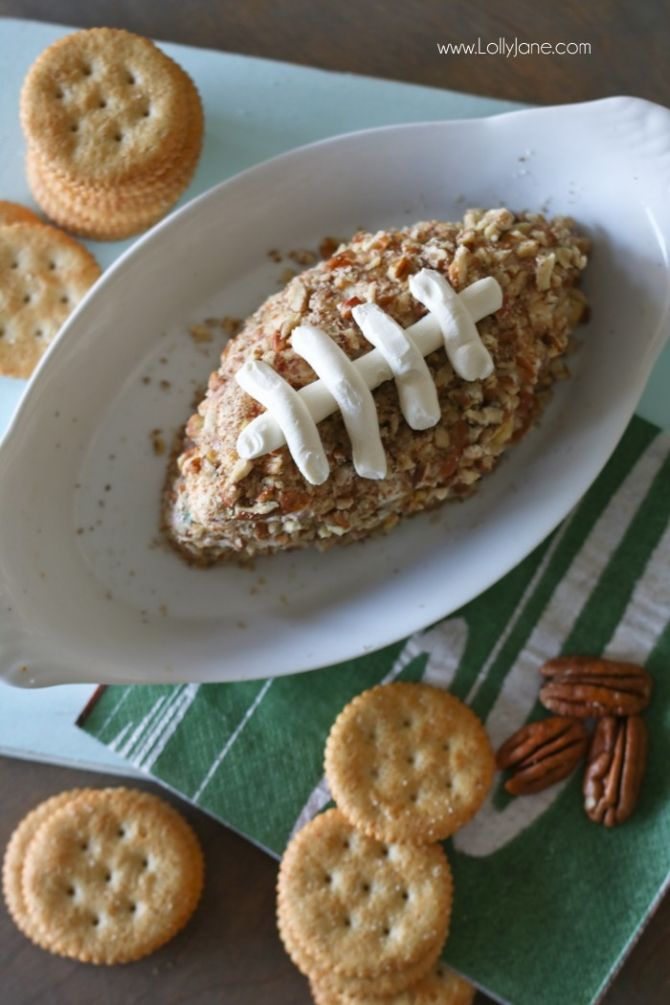 EASY and DANG GOOD Salami Cream Cheese Ball... shaped like a football! PERFECT for the Big GAME DAY Party!: