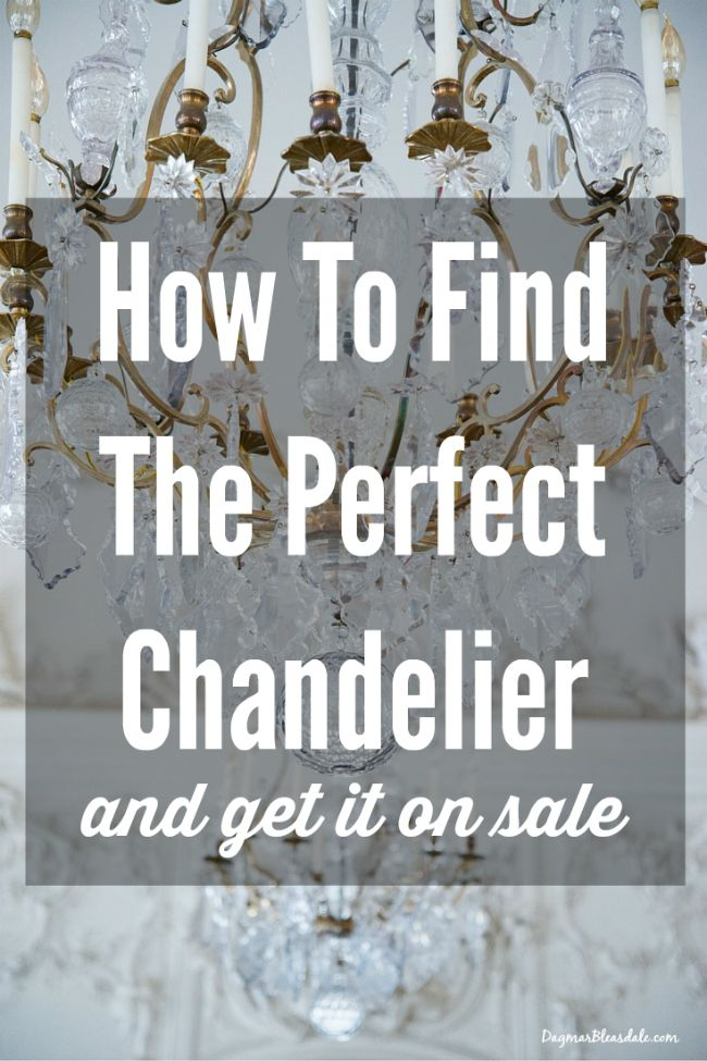 How to find the perfect chandelier and get it on sale! Find more frugal decor ideas on Dagmar's Home - DagmarBleasdale.com.