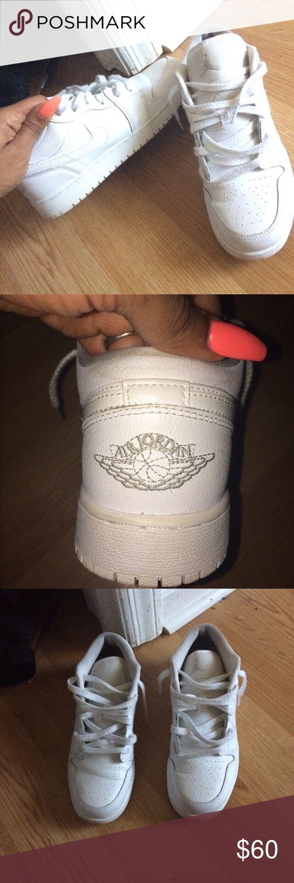 Jordan 1 low top All white Jordan 1s low top Jordan Shoes Sneakers