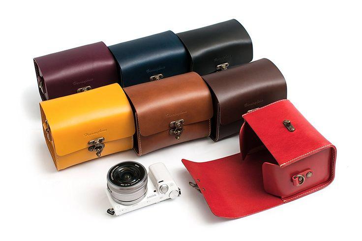 Herringbone Tiny Mellow Mirrorless Camera Genuine Leather Bag Sugar Brown H1438: Amazon.ca: Camera & Photo