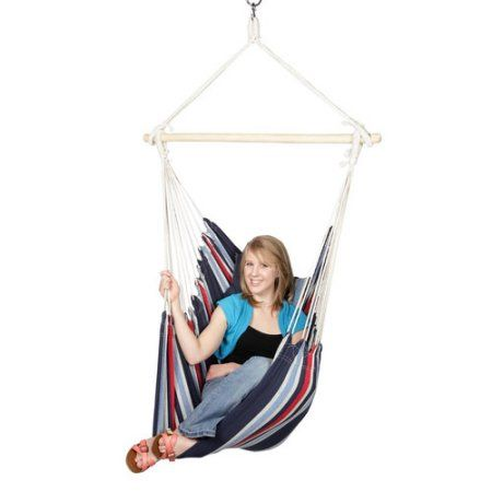 Blue Sky Hammocks Hanging Chair with 2 Cushions and Free Hammock Straps, Multicolor