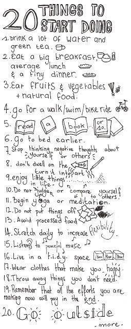 20 Dinge, die Sie jeden Tag tun sollten