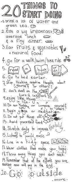 20 things to start doing every day