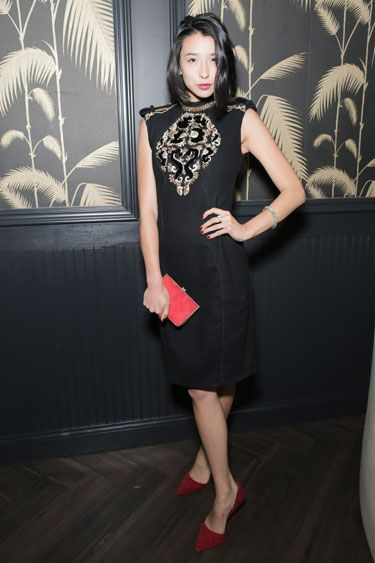 J. Mendel Afterparty    Lily Kwong in Jason Wu