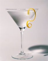 """Vesper Martini (James Bond inspired)     """"Three measures of Gordon's, one of vodka, half a measure of Kina Lillet. Shake it very well until it's ice-cold, then add a large thin slice of lemon peel. Got it?""""   -Casino Royale, Chapter 7"""