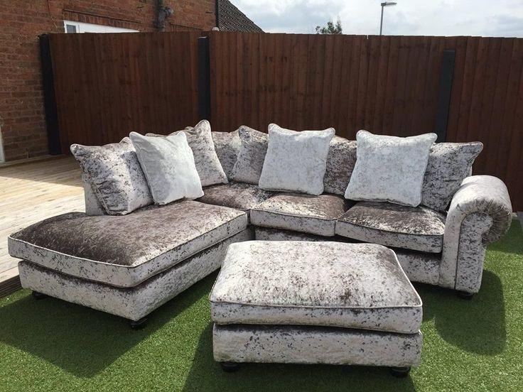 grey crushed velvet sofa - Google Search